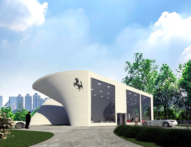 Ferrari Dealership Office by Mind Pachimsawat 2