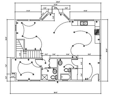 AutoCAD Floor Plan 2