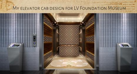 Elevator cab - LV Foundation Museum (Final Design)