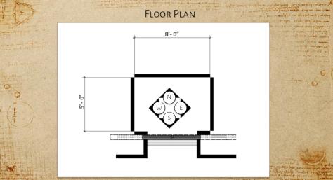 Elevator cab - LV Foundation Museum (Floor Plan)