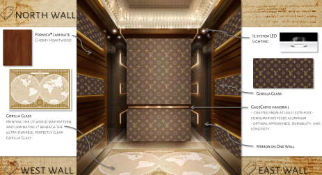 Elevator cab - LV Foundation Museum (Materials)