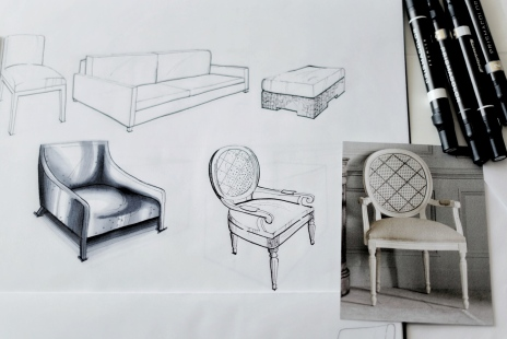 Free hand sketch – chairs 2