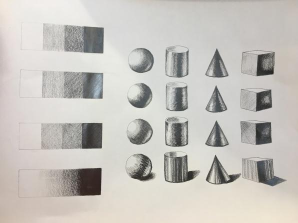 pencil - shadows