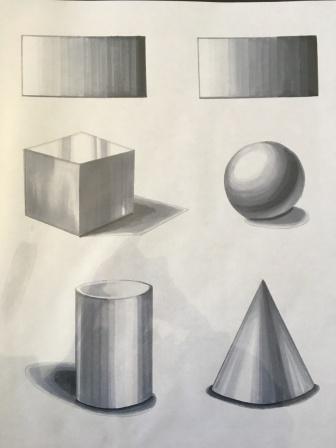 Shadows - pencil