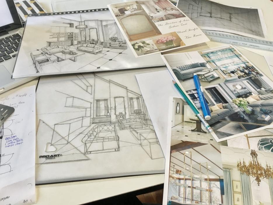 Sketch - living room 1
