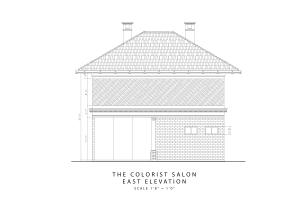 The Colorist Salon - east elevation