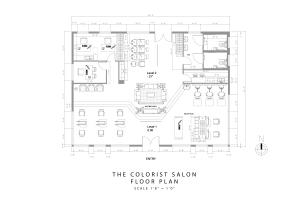 The Colorist Salon - floor plan